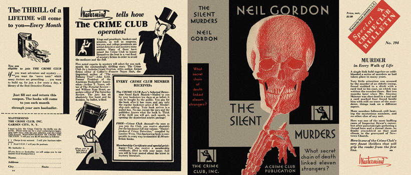 Silent Murders, The. Neil Gordon.