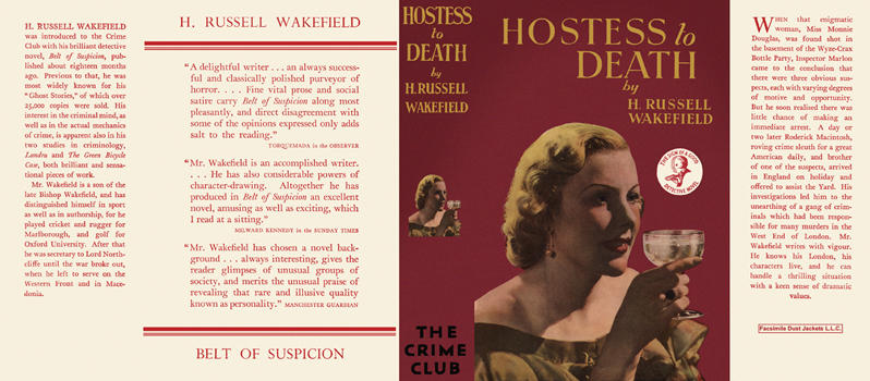 Hostess to Death. H. R. Wakefield.