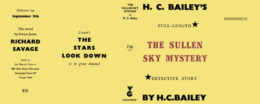 Sullen Sky Mystery, The. H. C. Bailey.