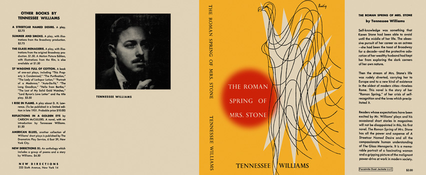 Roman Spring of Mrs. Stone, The. Tennessee Williams