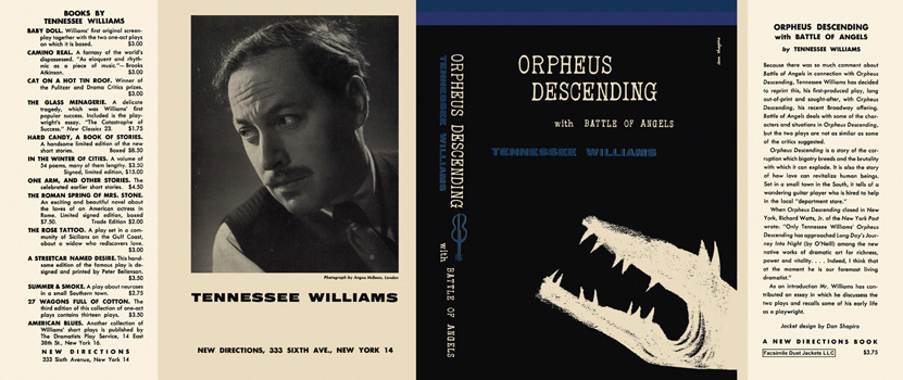 Orpheus Descending with Battle of Angels. Tennessee Williams