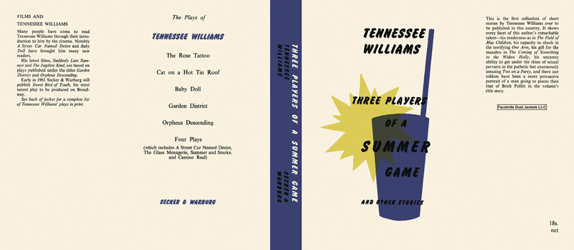 Three Players of a Summer Game and Other Stories. Tennessee Williams.
