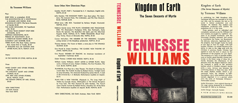 Kingdom of Earth, The Seven Descents of Myrtle. Tennessee Williams