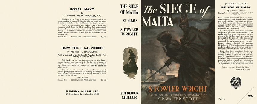 Siege of Malta, Part One, St. Elmo, The. S. Fowler Wright.