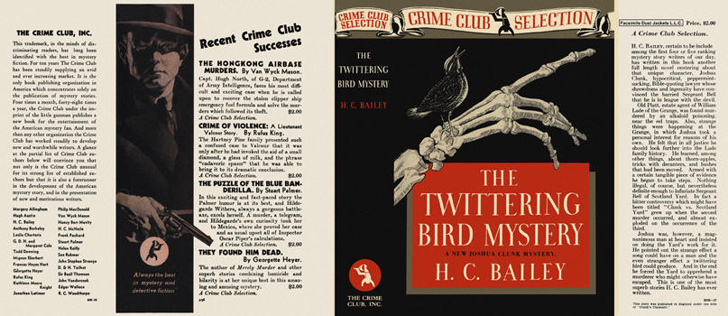 Twittering Bird Mystery, The. H. C. Bailey