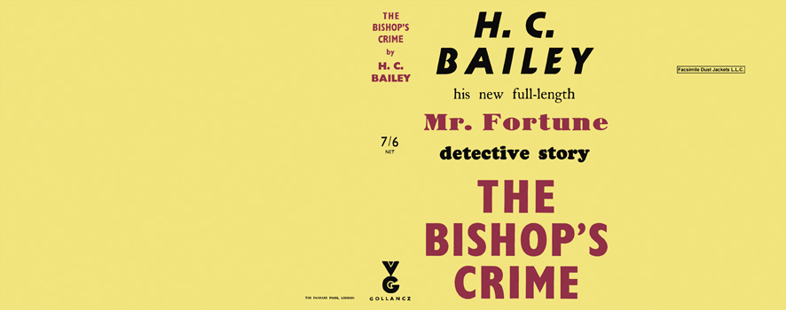 Bishop's Crime, The. H. C. Bailey