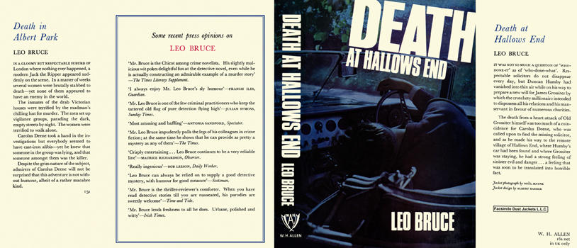 Death at Hallows End. Leo Bruce.