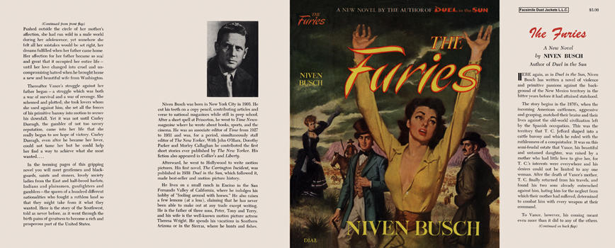 Furies, The. Niven Busch.