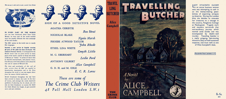 Travelling Butcher. Alice Campbell.