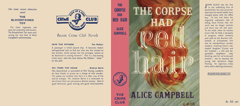 Corpse Had Red Hair, The. Alice Campbell