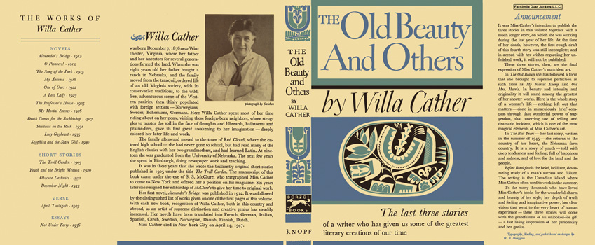Old Beauty and Others, The. Willa Cather