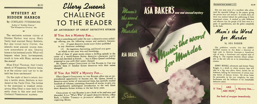 Mum's the Word for Murder. Asa Baker.