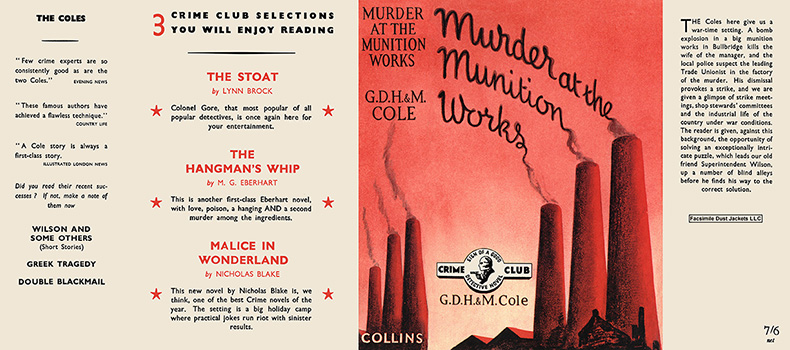 Murder at the Munition Works. G. D. H. Cole, Margaret Cole.