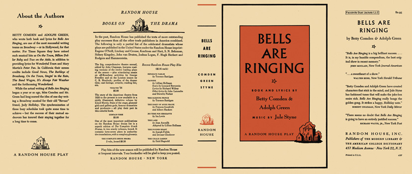 Bells Are Ringing. Betty Comden, Adolph Green