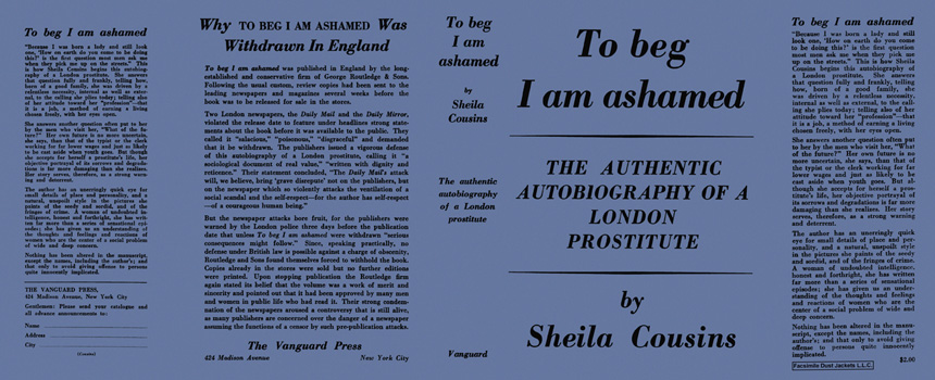 To Beg I Am Ashamed. Sheila Cousins