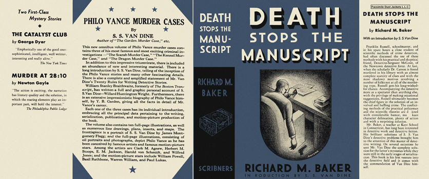 Death Stops the Manuscript. Richard M. Baker.