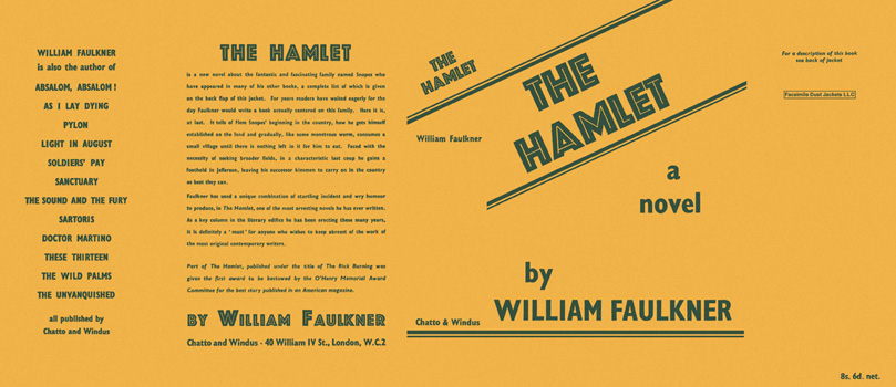 Hamlet, The. William Faulkner.