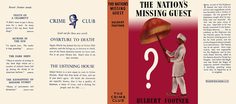 Nation's Missing Guest, The. Hulbert Footner