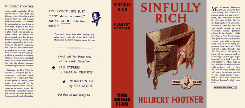Sinfully Rich. Hulbert Footner
