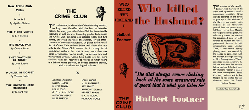 Who Killed the Husband? Hulbert Footner
