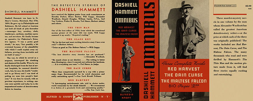 Omnibus (Red Harvest, The Dain Curse, and The Maltese Falcon). Dashiell Hammett.
