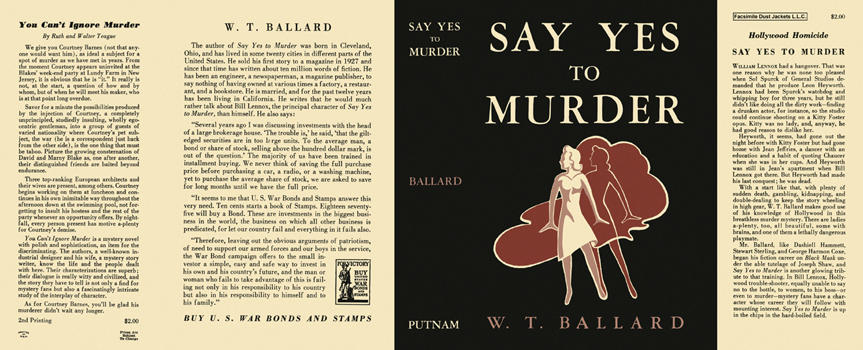 Say Yes to Murder. W. T. Ballard.