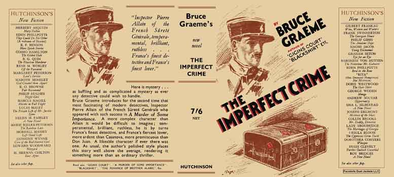 Imperfect Crime, The. Bruce Graeme.