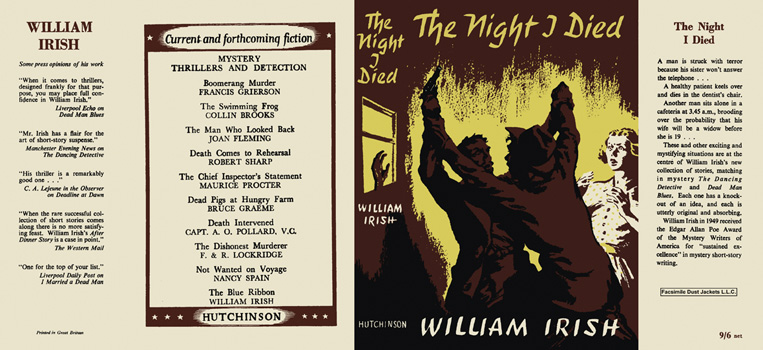 Night I Died, The. William Irish.