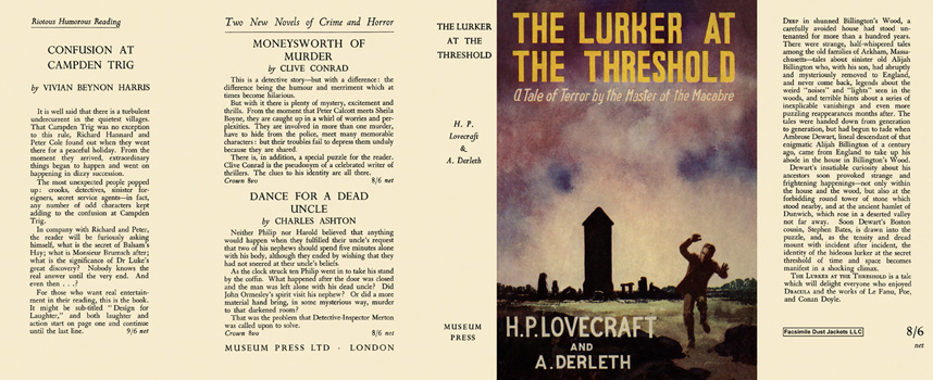 Lurker at the Threshold, The. H. P. Lovecraft, August Derleth