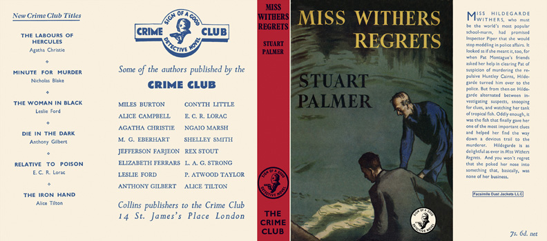 Miss Withers Regrets. Stuart Palmer.
