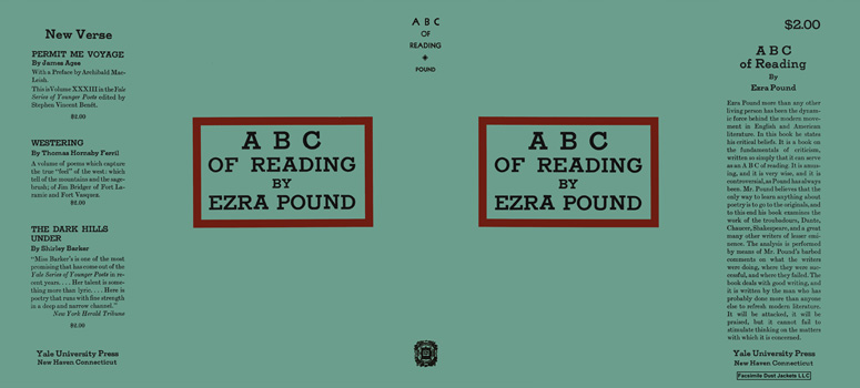 ABC of Reading. Ezra Pound