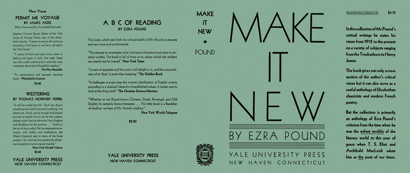 Make It New. Ezra Pound