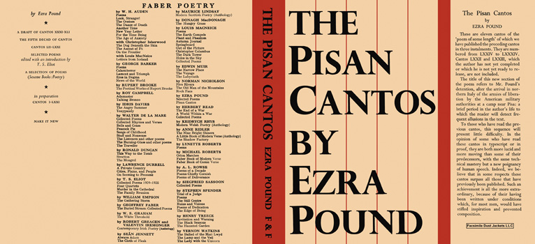 Pisan Cantos The. Ezra Pound.