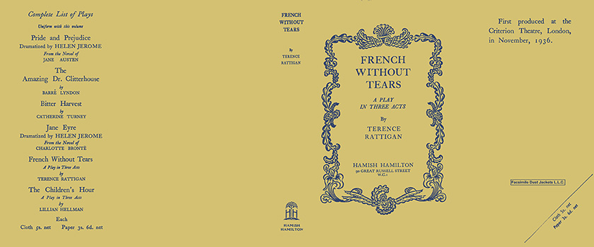 French Without Tears. Terence Rattigan.