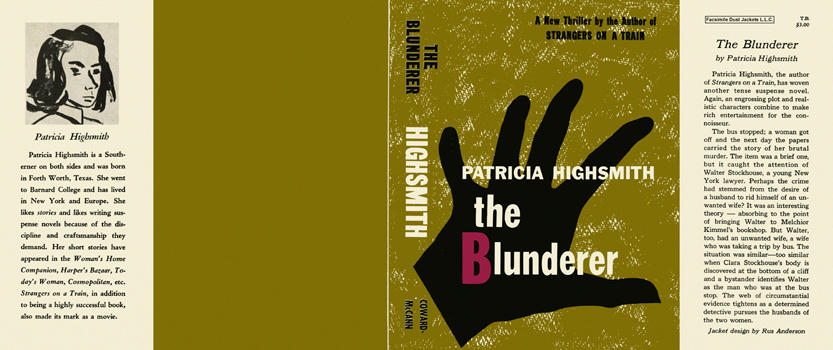 Blunderer, The. Patricia Highsmith.