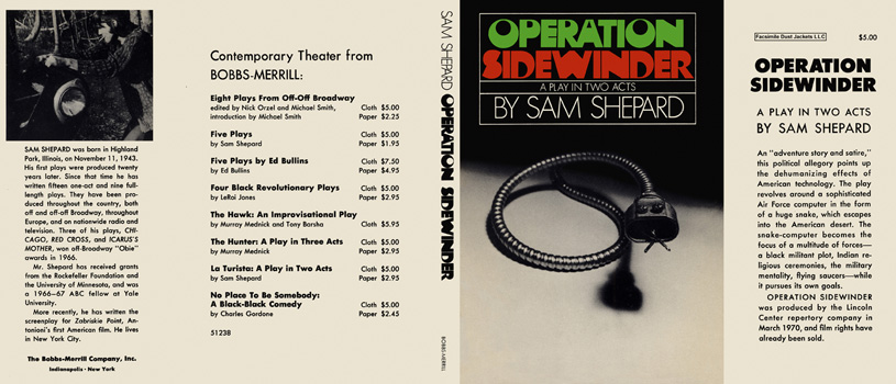 Operation Sidewinder, A Play in Two Acts. Sam Shepard