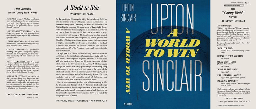 World to Win, A. Upton Sinclair.