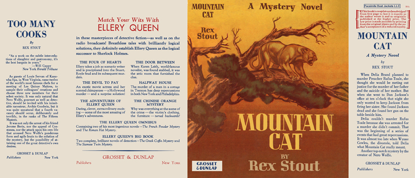 Mountain Cat. Rex Stout.