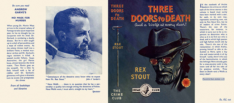Three Doors to Death. Rex Stout.