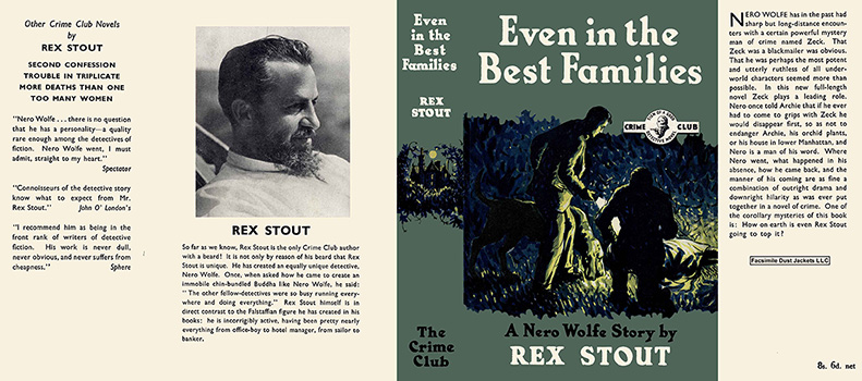 Even in the Best Families. Rex Stout.