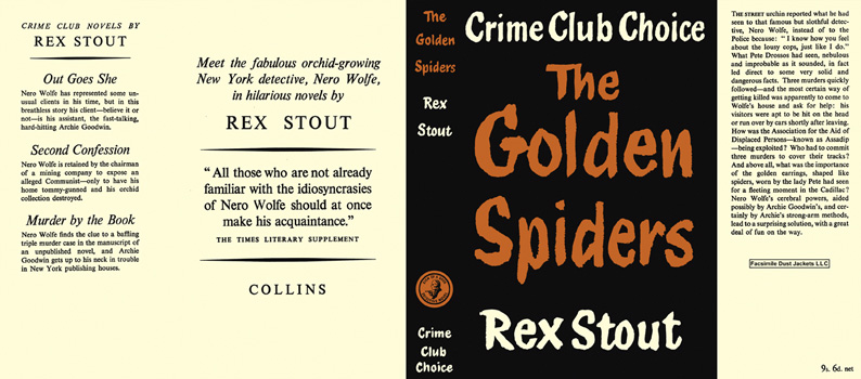 Golden Spiders, the. Rex Stout