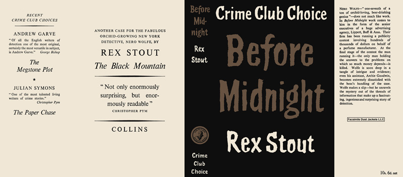 Before Midnight. Rex Stout