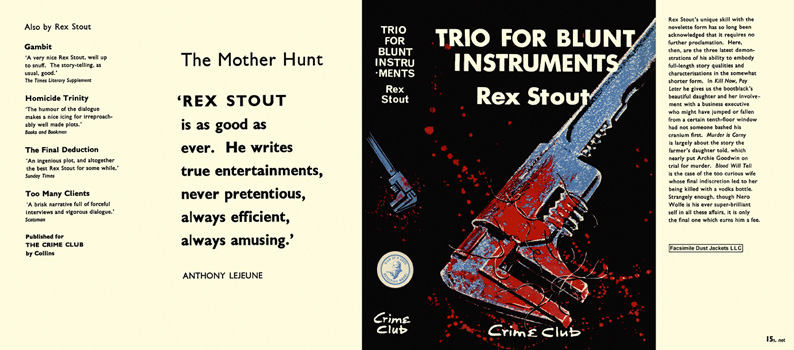 Trio for Blunt Instruments. Rex Stout.