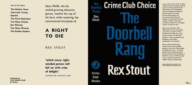 Doorbell Rang, The. Rex Stout