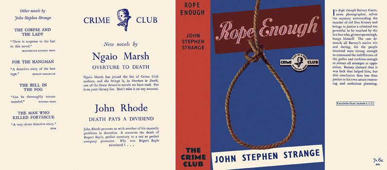 Rope Enough. John Stephen Strange