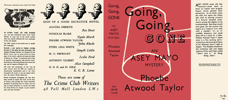 Going, Going, Gone. Phoebe Atwood Taylor.