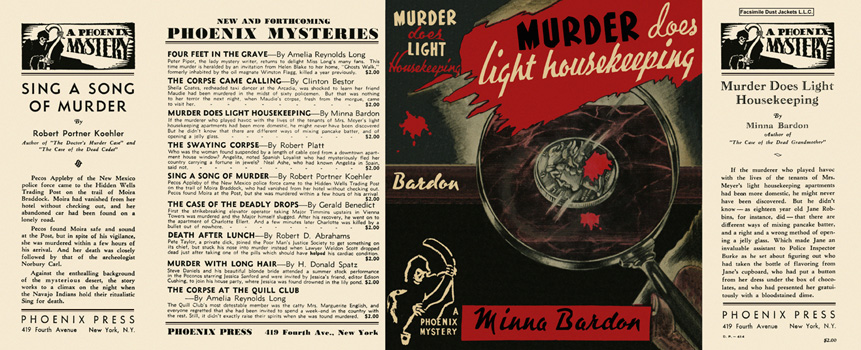 Murder Does Light Housekeeping. Minna Bardon