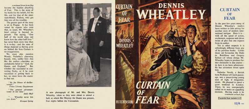 Curtain of Fear. Dennis Wheatley.