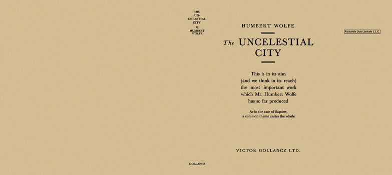Uncelestial City, The. Humbert Wolfe
