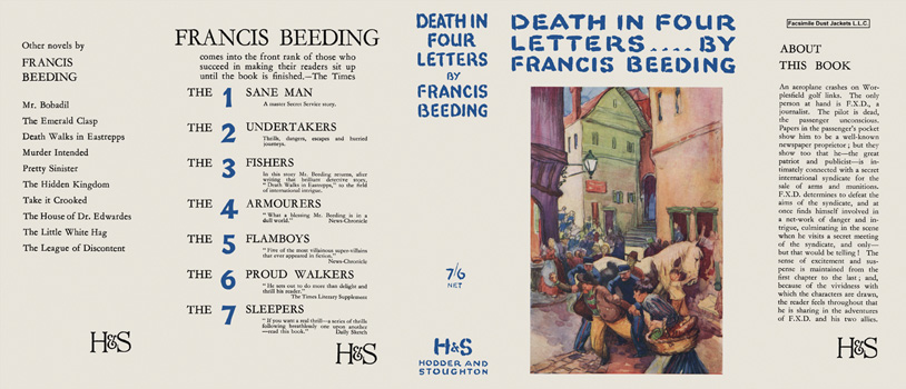 Death in Four Letters. Francis Beeding.